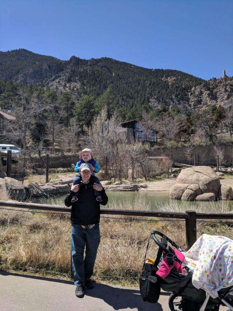 Cheyenne Mountain Zoo mountain view