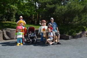 Standing with Playmobil Figurines
