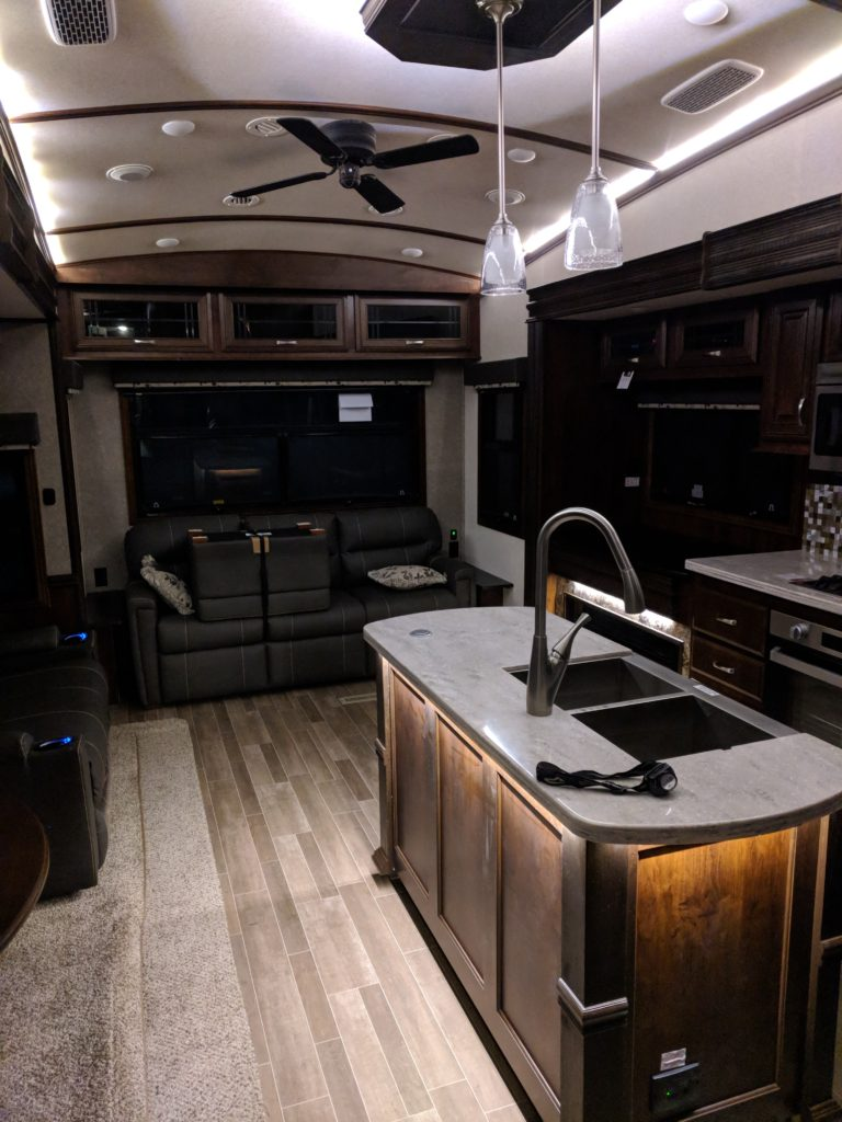 Main living area inside the RV