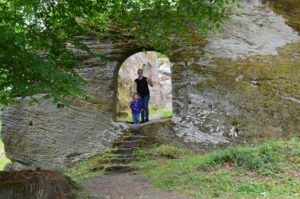 Exploring castle ruins in Germany with kids