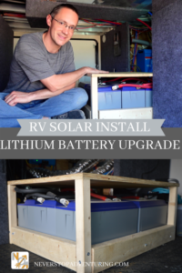 A pinnable image for RV solar install lithium battery upgrade
