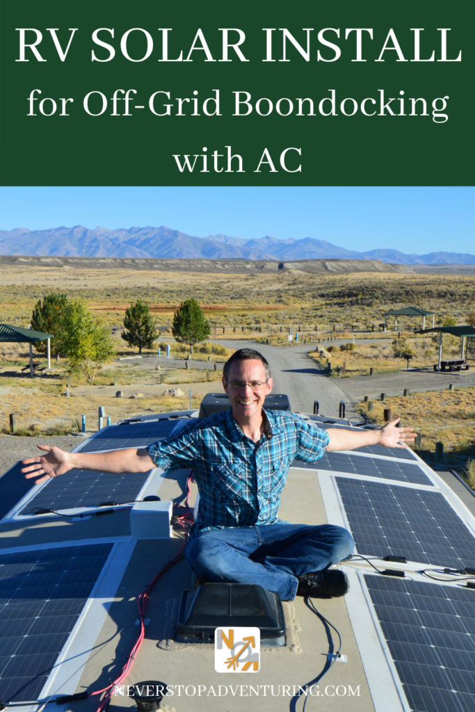 Pinnable image of RV Solar Install for Off-Grid Boondocking with AC