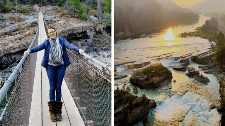 Kootenai Swinging Bridge & Falls | Montana National Forest Boondocking
