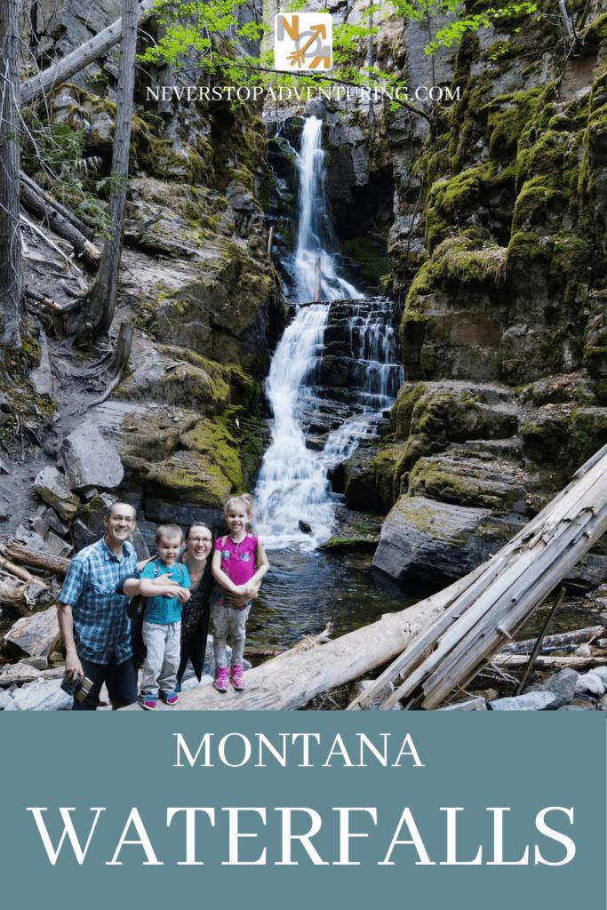 Pinnable image of Montana Waterfalls