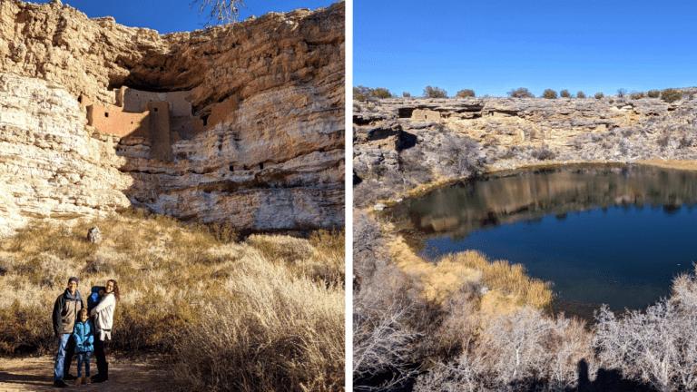 Montezuma Castle National Monument and Montezuma Well in Arizona