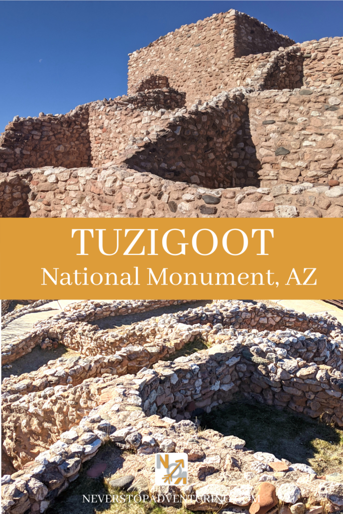 Tuzigoot National Monument tower & walls