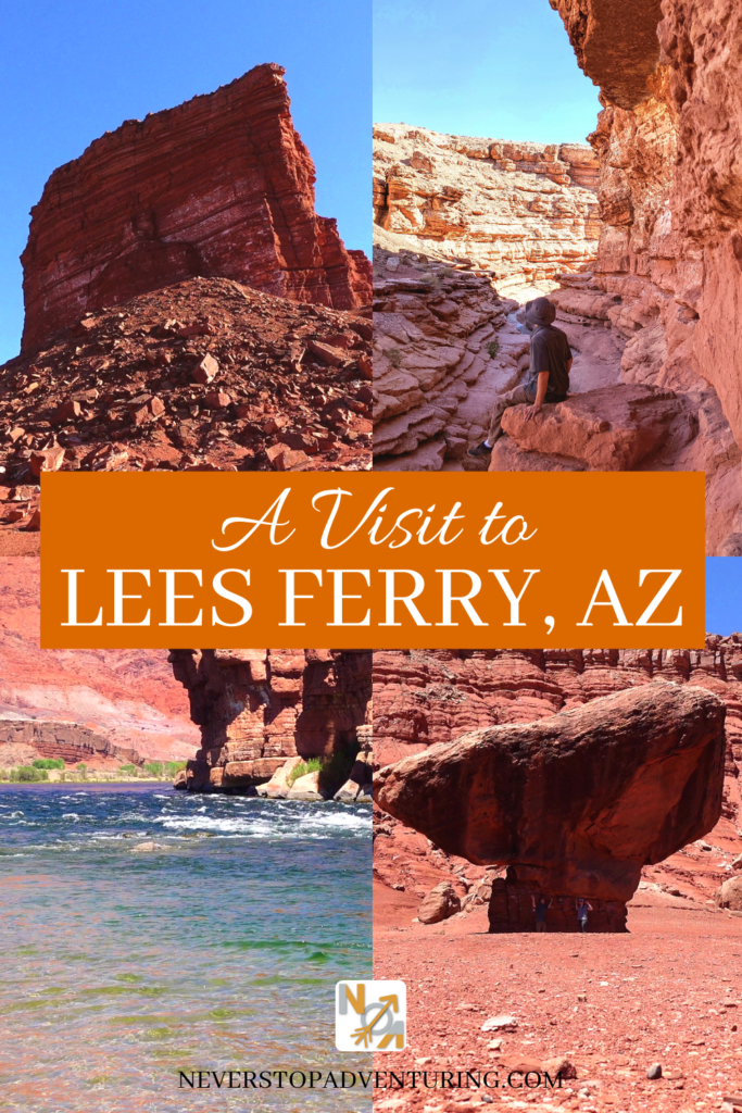 Pinable image of balanced rock and Colorado River by Lees Ferry