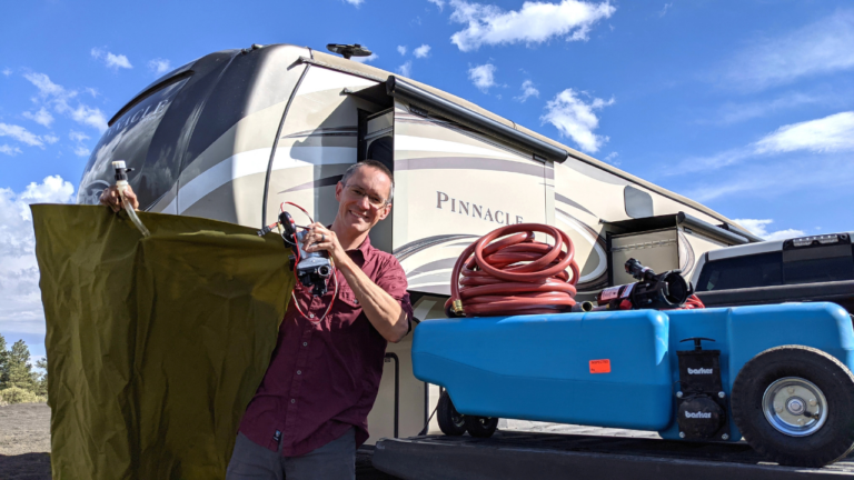 Portable RV Waste Tank, Freshwater Tank and Pumps