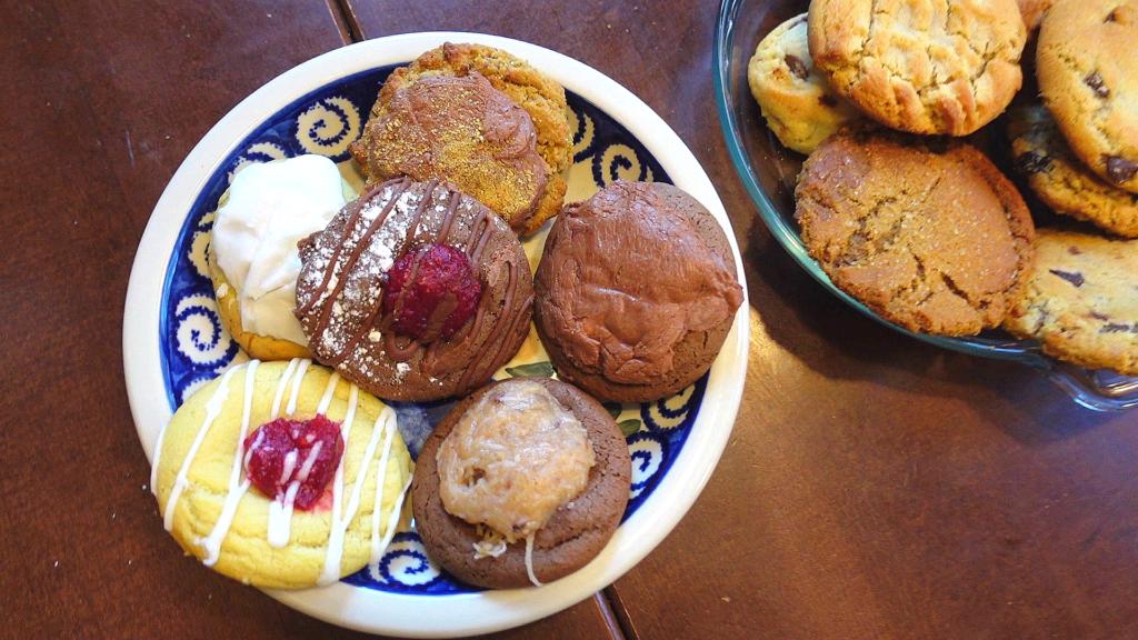 Cookies on plates