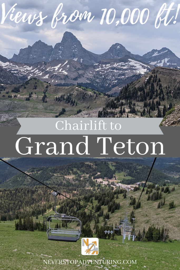 Tetons and chairlift