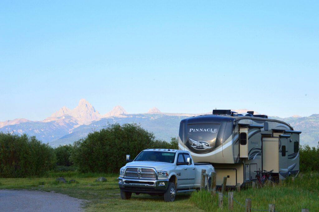 RV at Rainey Campground