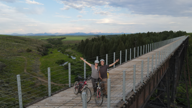 Spectacular Teton Valley Rails to Trails Ride – Escaping A Thunderstorm