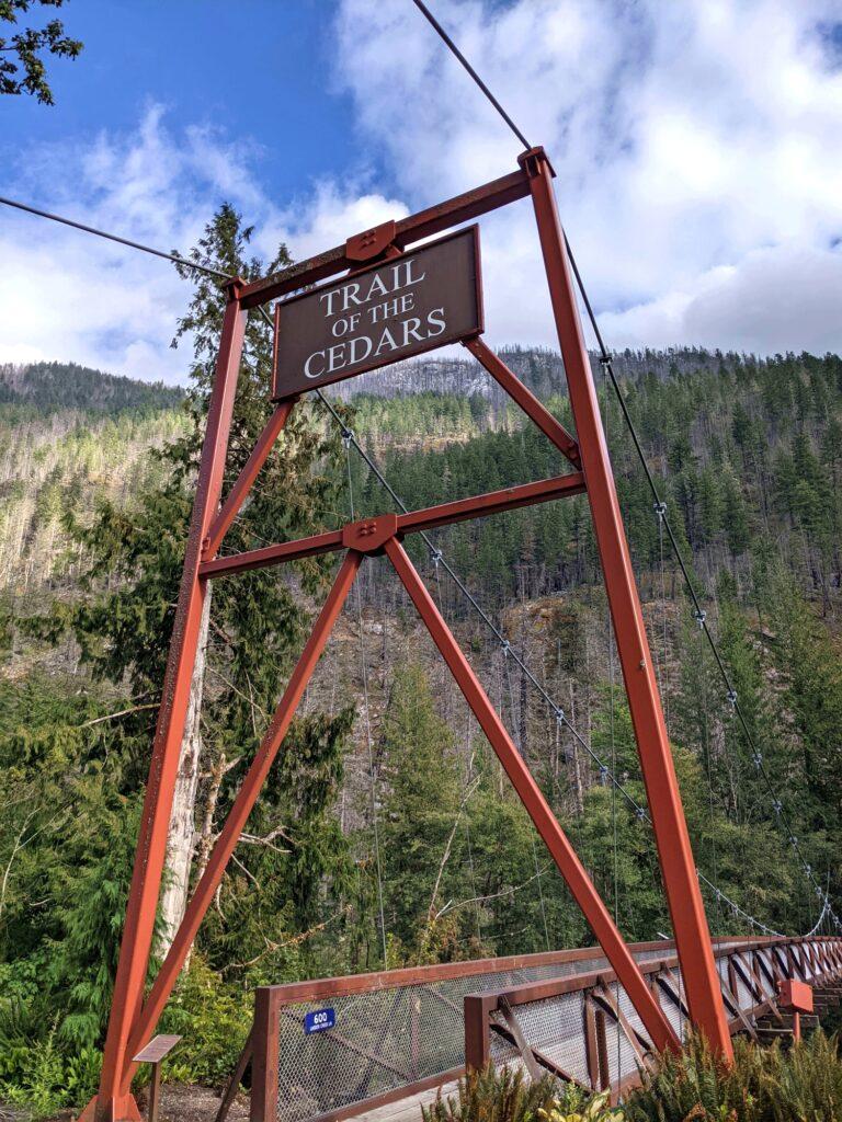 Trail of the Cedars Suspension Bridge
