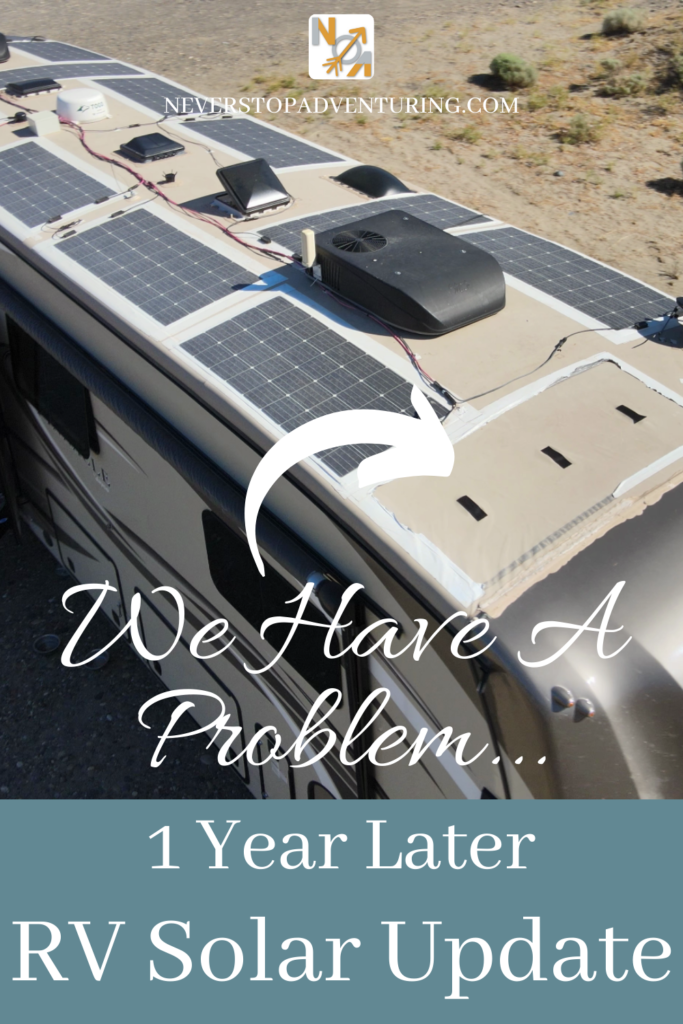 Pinnable image of an RV roof missing a solar panel