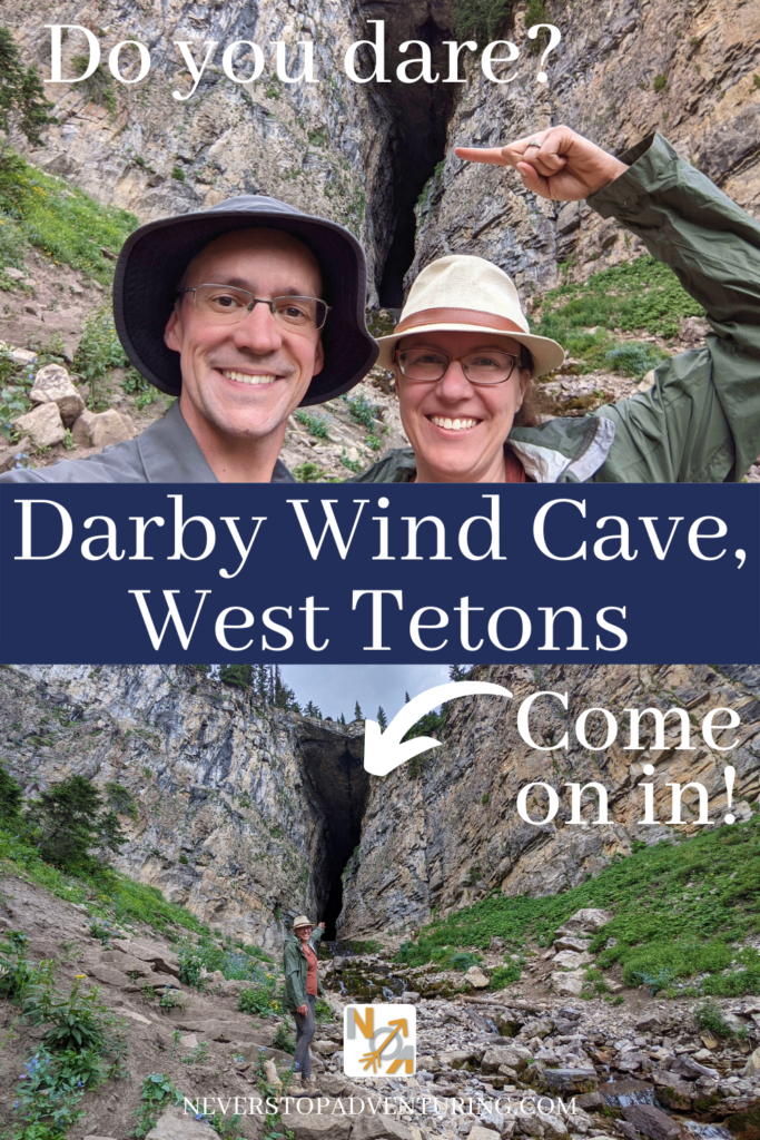 Pinnable image of couple in front of Darby Wind Cave