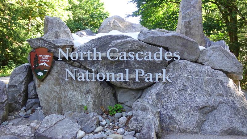 North Cascades National Park Sign