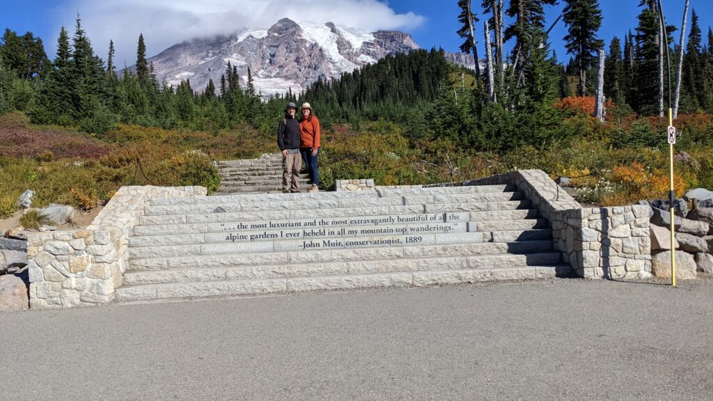 John Muir quote on steps at Paradise