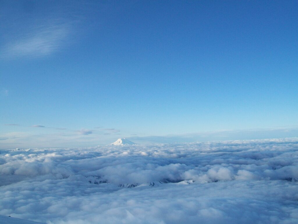 Mt. Adams above cloud line