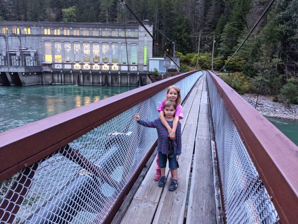Gorge Dam and suspension bridge