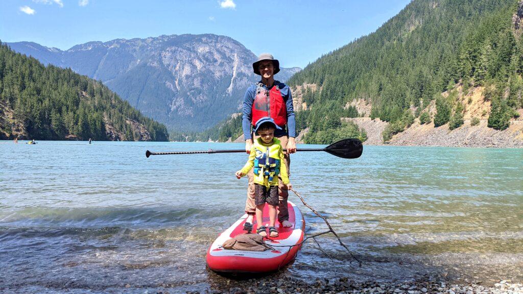 Paddleboarding North Cascades National Park Lakes