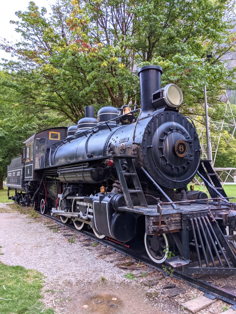 Railroad engine in Newhalem