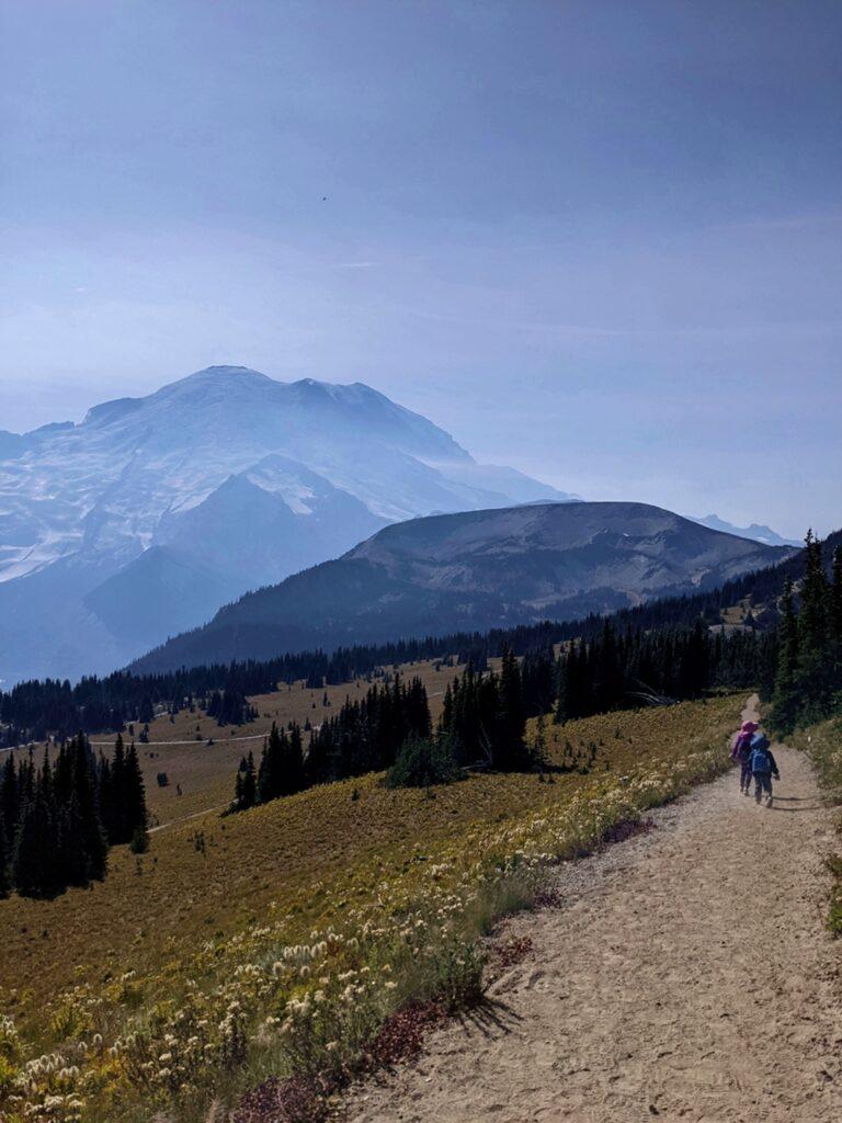 Hiking Sunrise at Mount Rainier